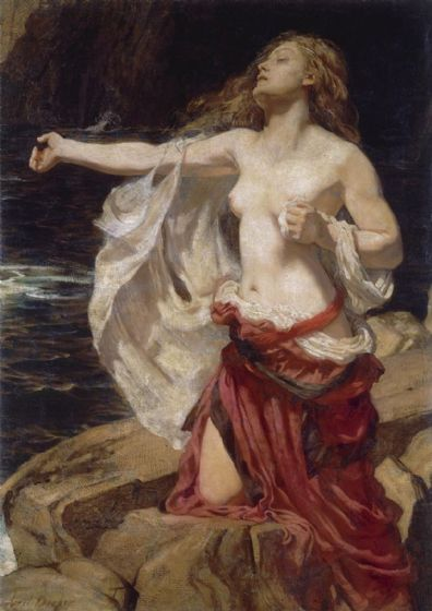 Draper, Herbert James: Ariadne. Fine Art Print/Poster. Sizes: A4/A3/A2/A1 (002220)